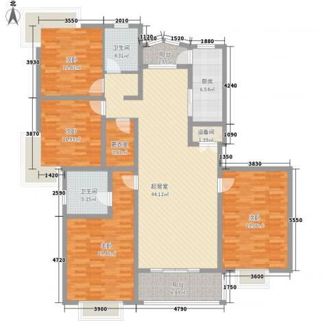 长江花园4室0厅2卫1厨192.00㎡户型图