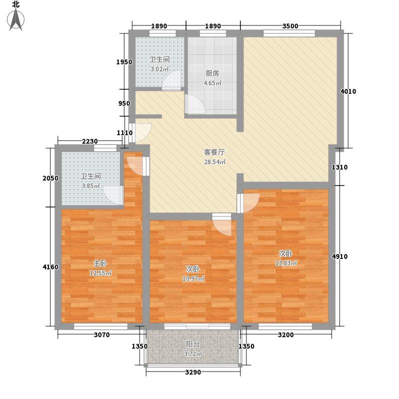 绿川新苑115.96㎡上海户型3室2厅2卫1厨
