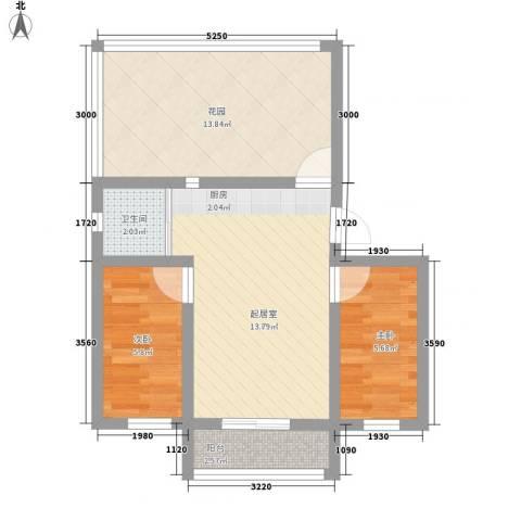长江花园2室0厅1卫0厨106.00㎡户型图