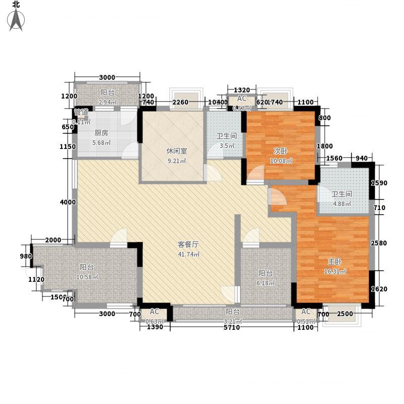 橘子郡134.00㎡三期户型3室2厅2卫1厨