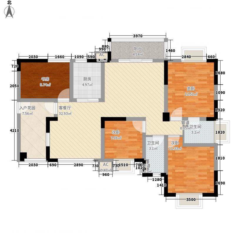 万基金蓝湾114.63㎡7号楼7号房偶数层户型3室2厅2卫1厨