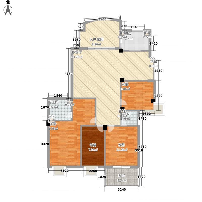 金辉枫尚二期145.31㎡金辉枫尚二期户型图22#014室2厅2卫1厨户型4室2厅2卫1厨