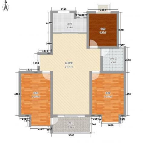 新城府翰苑3室0厅1卫1厨102.10㎡户型图