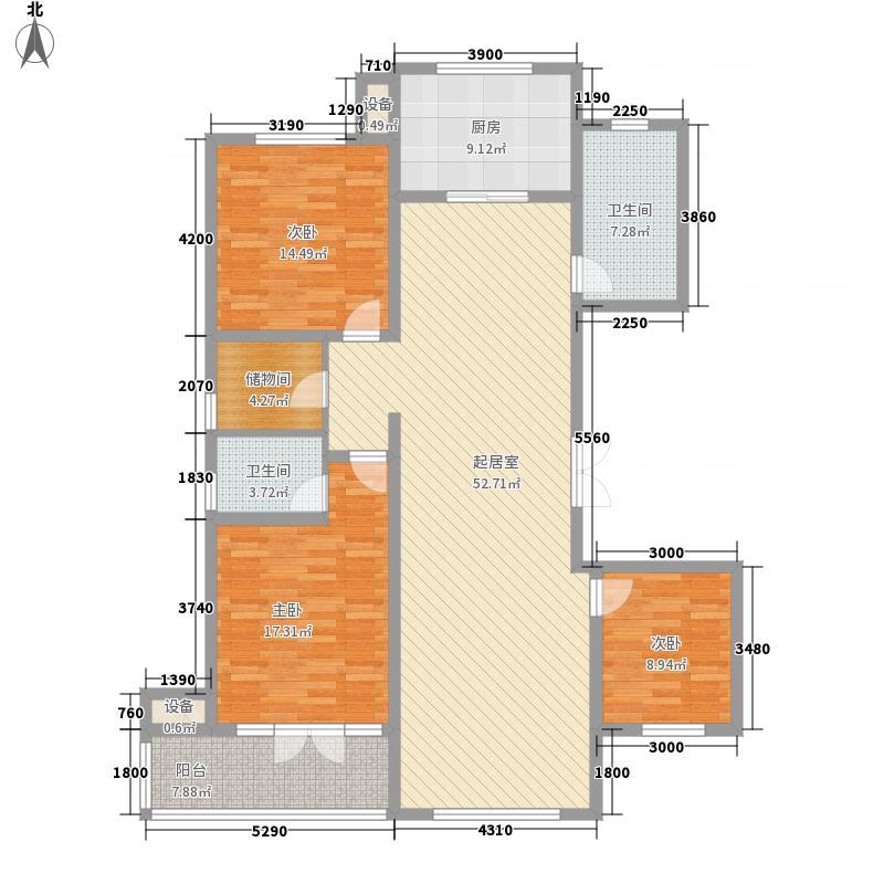 创业・齐悦国际花园174.00㎡二期V19、V20#楼A户型3室2厅2卫1厨