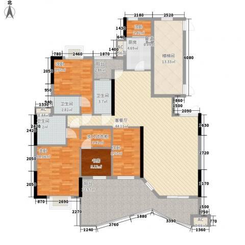 丽江花园5室1厅3卫1厨206.00㎡户型图