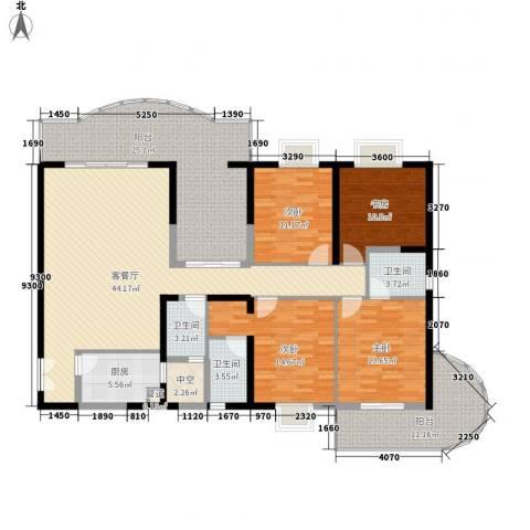 禹洲世纪海湾4室1厅3卫1厨149.19㎡户型图