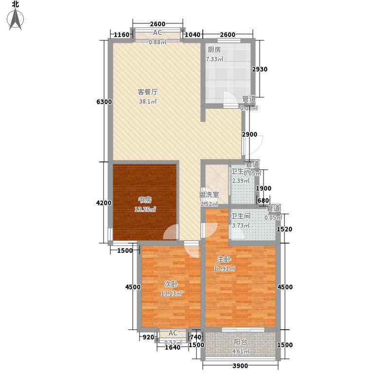 药山康城133.78㎡药山・康城户型图4号楼A户型3室2厅2卫户型3室2厅2卫