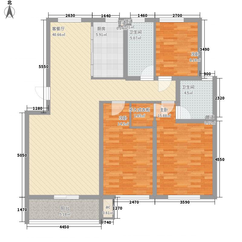 金帝桂都131.00㎡一期多层E-3户型3室2厅2卫1厨