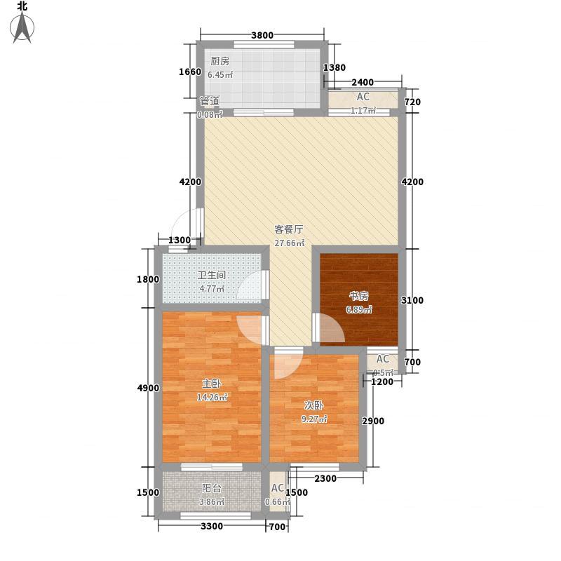 药山康城96.77㎡药山・康城户型图5号楼多层户型2室2厅1卫1厨户型2室2厅1卫1厨