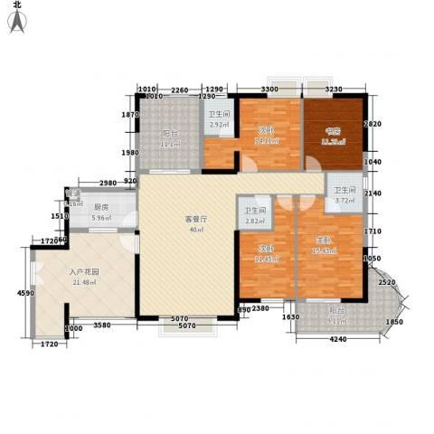 禹洲世纪海湾4室1厅3卫1厨176.00㎡户型图