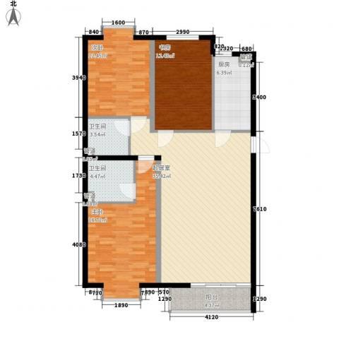 3克拉3室0厅2卫1厨138.00㎡户型图