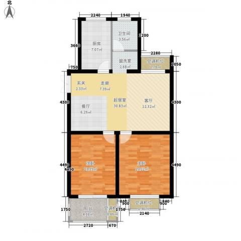 恒泰雅居2室0厅1卫1厨120.00㎡户型图