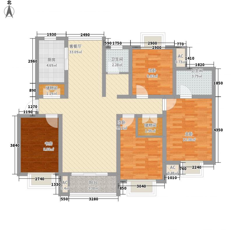 金榜世家134.80㎡上海文馨苑户型4室2厅2卫1厨