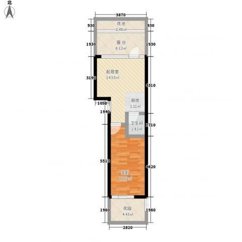 云门丽江1室0厅1卫0厨62.00㎡户型图