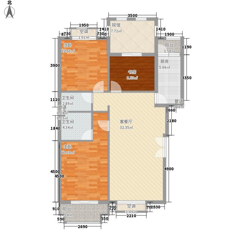 葡醍・十二院121.00㎡葡醍・十二院D3户型四室二厅二卫121平方米户型10室