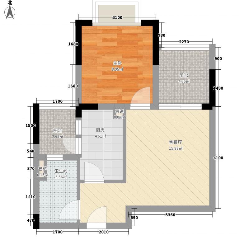 恒大照母山山水城21-24号楼标准层4号房户型
