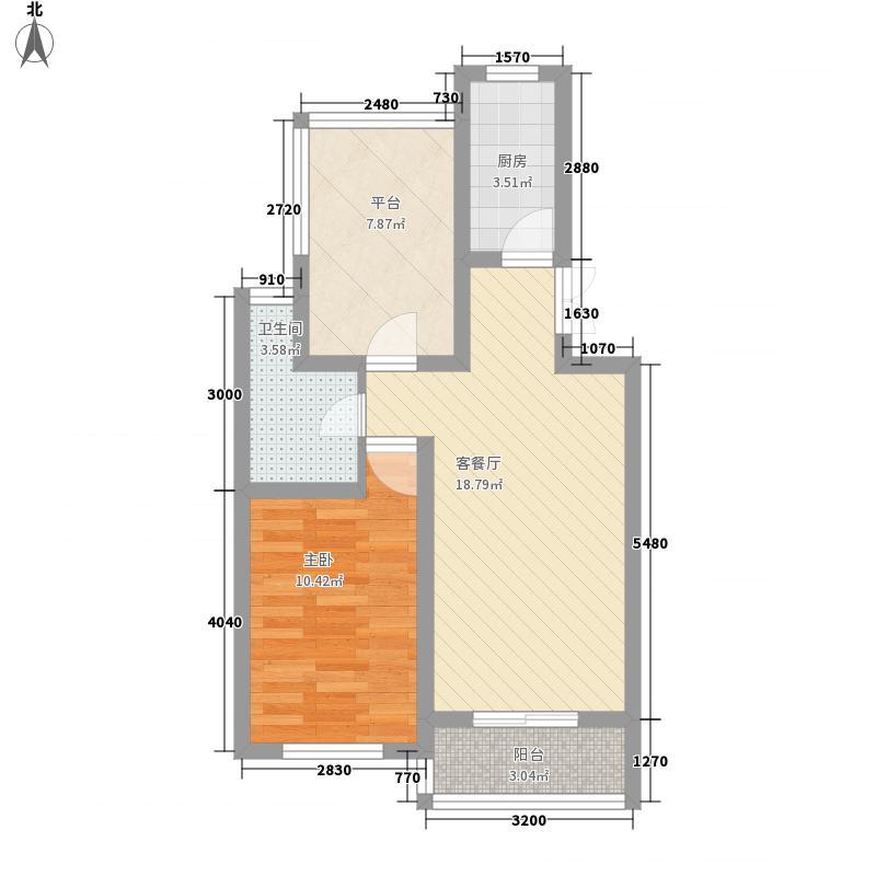 亲亲小镇70.00㎡亲亲小镇户型图DY1室1厅1卫户型1室1厅1卫