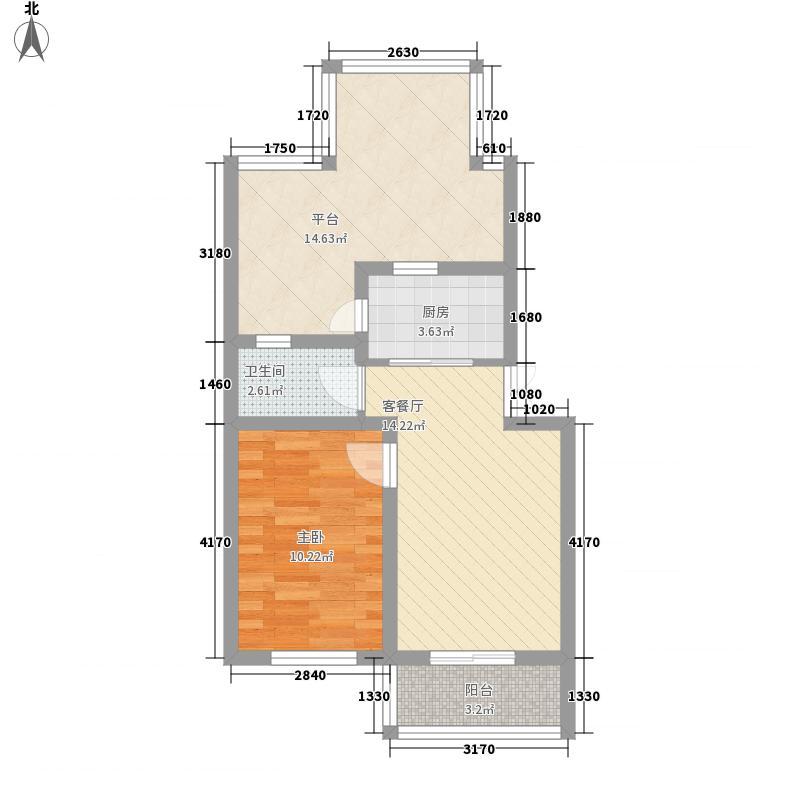 亲亲小镇70.00㎡亲亲小镇户型图AY1室1厅1卫户型1室1厅1卫