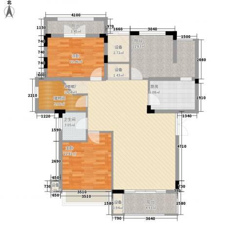 中铁逸都国际2室1厅1卫1厨137.00㎡户型图