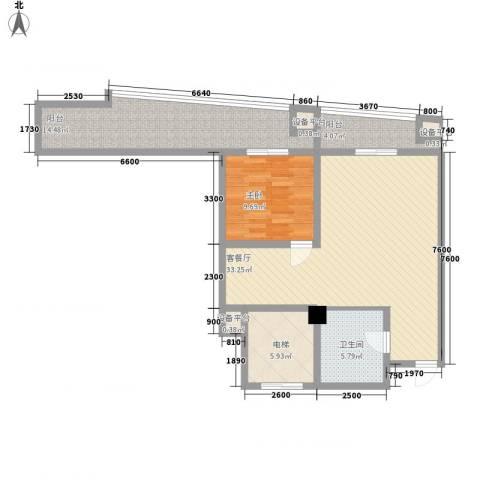 兰亭文苑1室1厅1卫0厨94.00㎡户型图