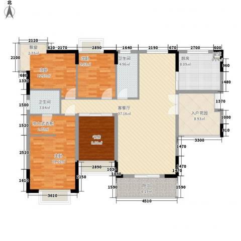 景华城4室1厅2卫1厨165.00㎡户型图