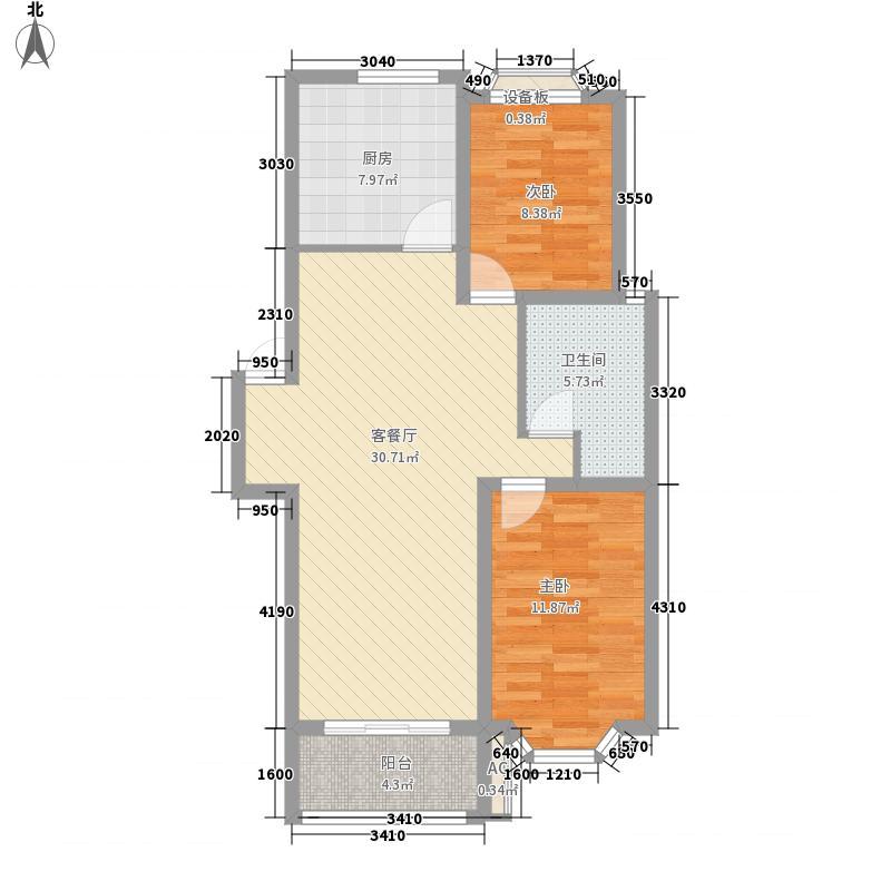 新南家园411.00㎡B1户型2室2厅1卫