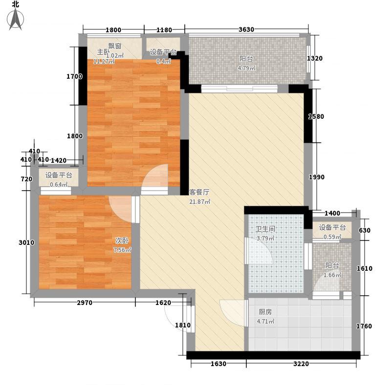 宫和西香郡二期8号楼标准层1、8号户型