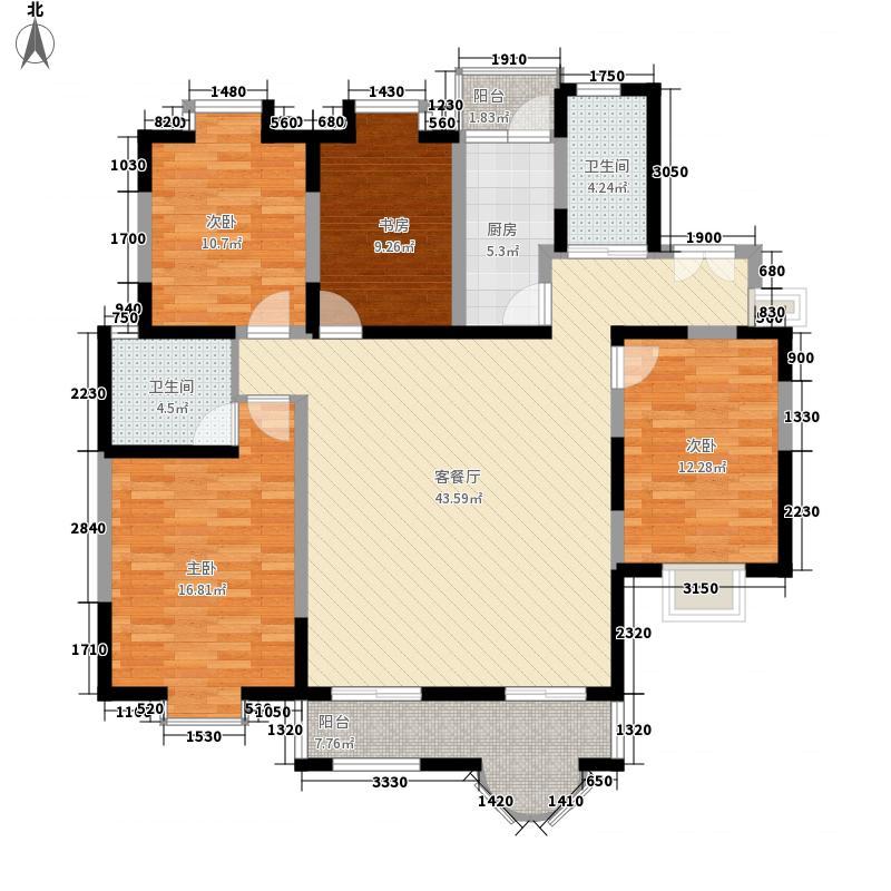 水岸豪庭166.00㎡水岸豪庭户型图3室2厅2卫1厨户型10室