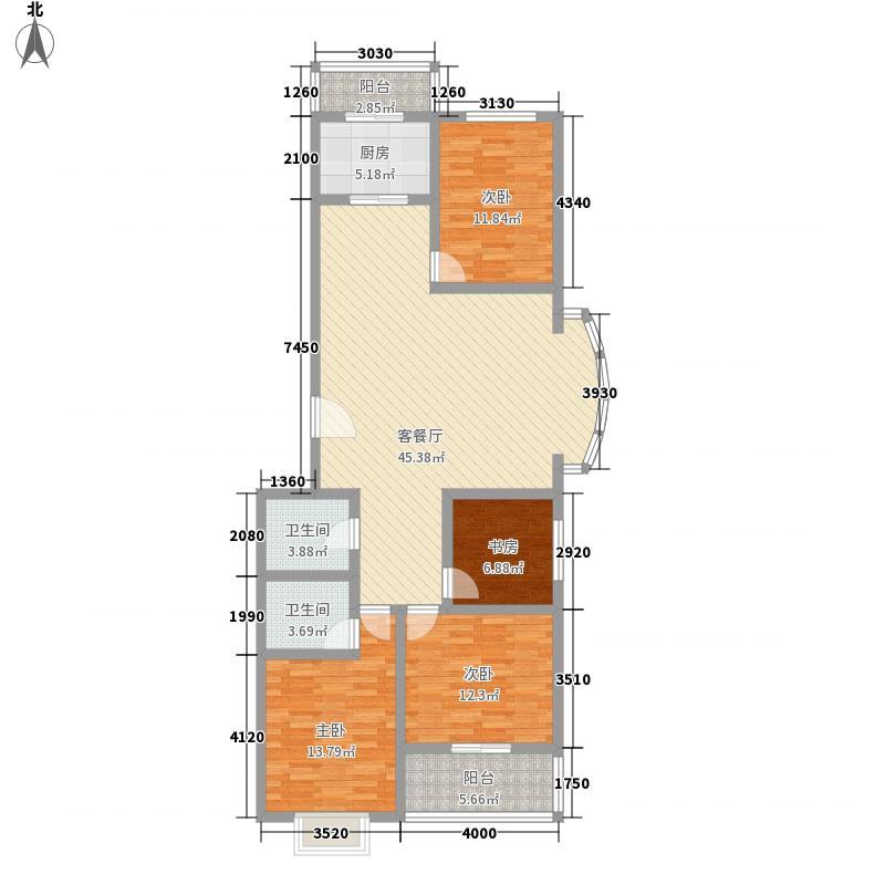 迎泽熙园C户型三室两厅两卫