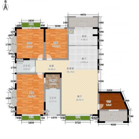 蠡湖香榭4室0厅2卫1厨192.00㎡户型图