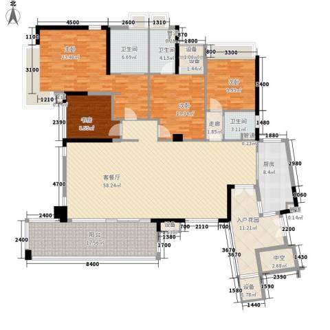 华发世纪城三期4室1厅3卫1厨174.88㎡户型图