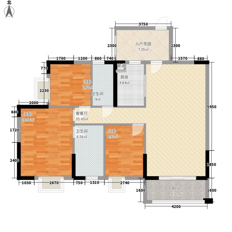 汇侨新城115.80㎡28栋标准层05户型3室2厅2卫1厨