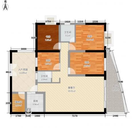 禹洲世纪海湾4室1厅2卫1厨149.00㎡户型图
