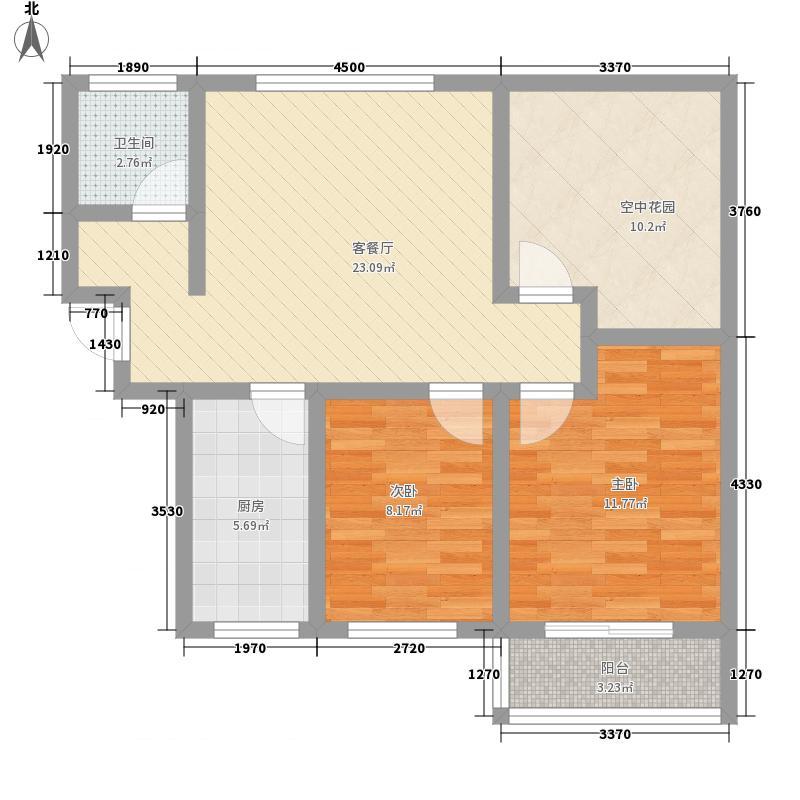 通和易居同辉74.45㎡通和易居同辉户型图摩登豪庭4#楼74.45平户型2室2厅1卫1厨户型2室2厅1卫1厨