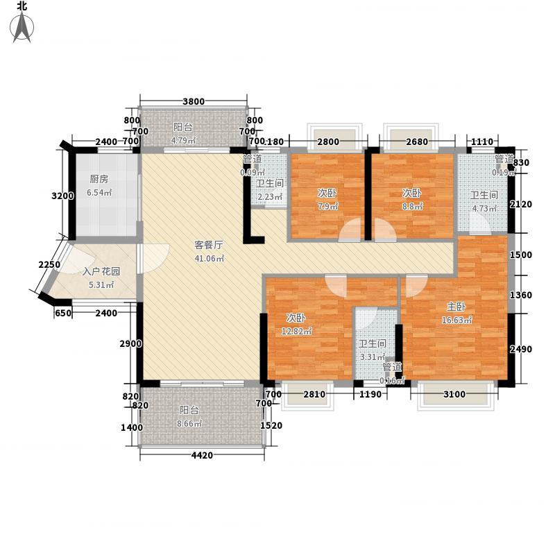 保利・中央公园153.00㎡4座03户型4室2厅3卫1厨