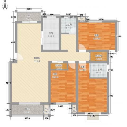 天奇盛世豪庭3室1厅2卫1厨141.00㎡户型图