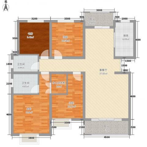 曲江风景线4室1厅2卫1厨156.00㎡户型图