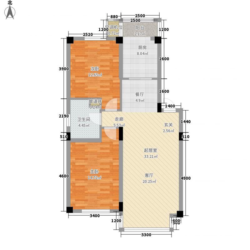 新湖明珠城96.29㎡新湖明珠城户型图1、7、13、14#2室2厅1卫户型2室2厅1卫