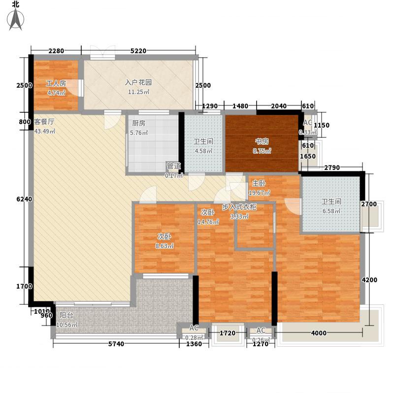 中海锦榕湾172.00㎡中海锦榕湾户型图J2栋01单元5室2厅2卫1厨户型5室2厅2卫1厨