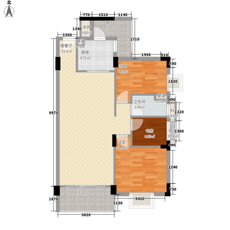 尚城名筑106.38㎡尚城名筑户型图尚誉阁A-D03单元3室2厅1卫户型3室2厅1卫