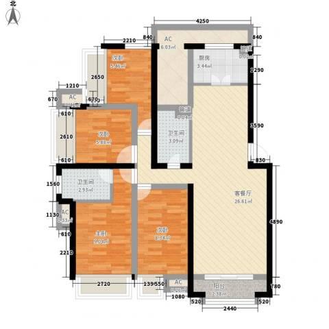 东晖广场4室1厅2卫1厨112.00㎡户型图