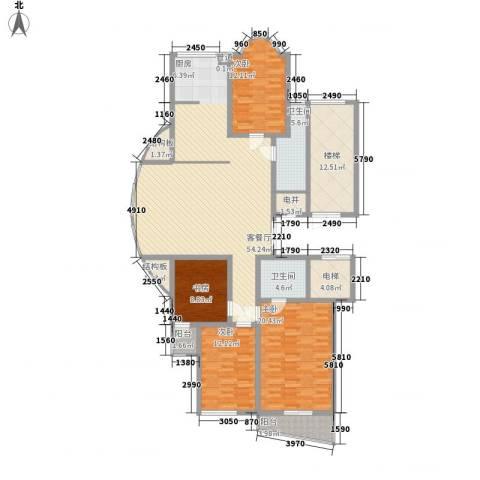 金花园4室1厅2卫0厨168.00㎡户型图