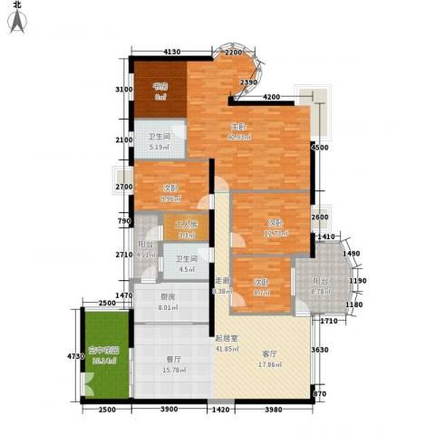 扬名海邑4室0厅2卫1厨220.00㎡户型图