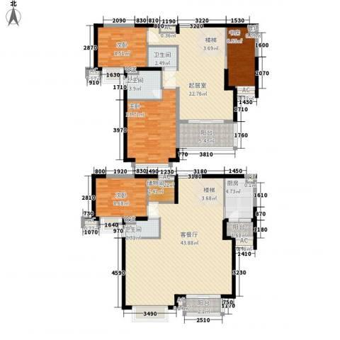 逸流公寓4室1厅3卫1厨190.00㎡户型图