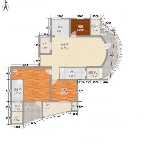金世纪铭城豪庭3室1厅2卫0厨136.00㎡户型图