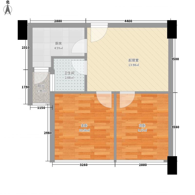 岳西新村61.00㎡岳西新村2室户型2室