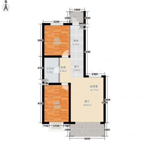 松浦观江国际2室0厅1卫0厨87.00㎡户型图
