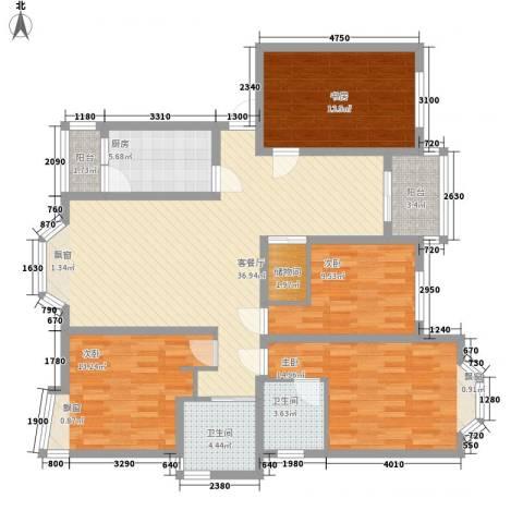 上海未来黄山新城4室1厅2卫1厨158.00㎡户型图