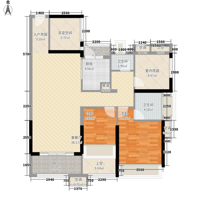 中信新城105.25㎡中信新城户型图5.6栋03-04户型图2室2厅2卫1厨户型2室2厅2卫1厨
