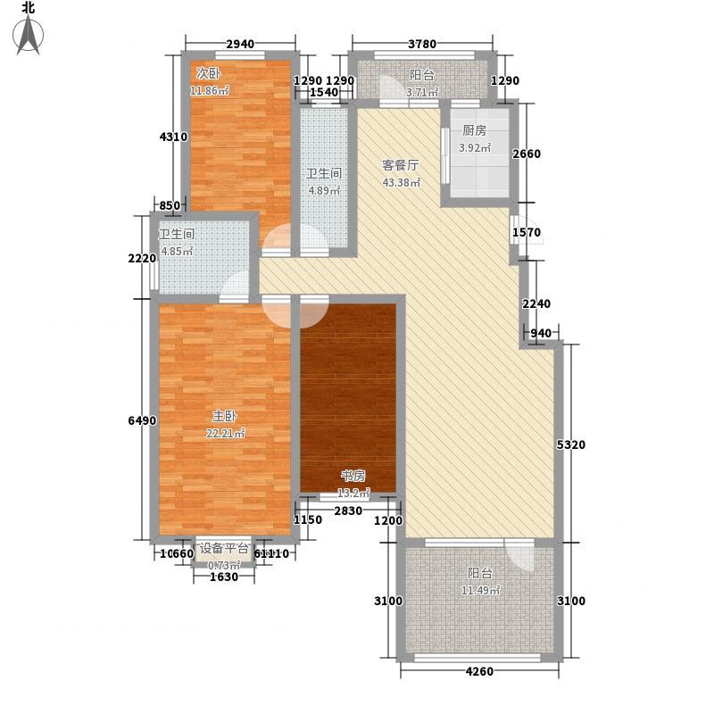 香榭丽舍13.00㎡洋房标准层-户型3室2厅1卫